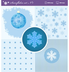 Snowflakes set 1 vector