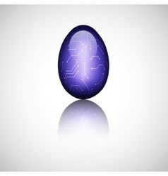 Technology easter egg vector