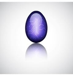 Technology easter egg vector image