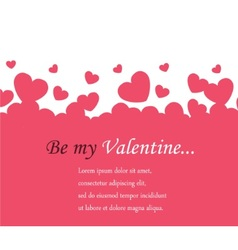 Horizontal background valentines day vector