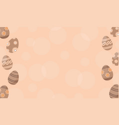Baackground easter egg flat vector