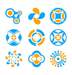 Circle logo elements vector image
