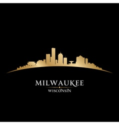 Milwaukee wisconsin city skyline silhouette vector