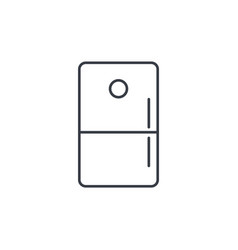 Refrigerator thin line icon linear symbol vector