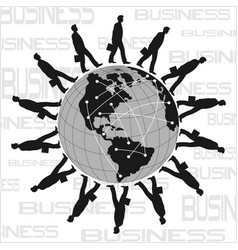 World business poster vector