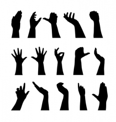 Human hands silhouettes vector