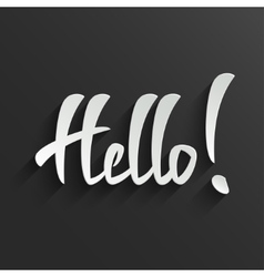 Hello lettering greeting card vector
