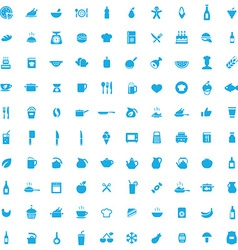 100 cooking icons vector