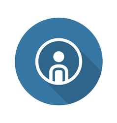 Personal profile icon man in circle vector