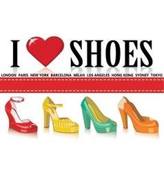 Colorful fashion women shoesfashion vector