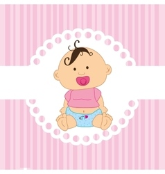 Cute baby toy vector