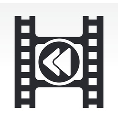 Video rewind icon vector