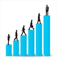 Businessman career promotion graph vector image