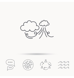 Wind icon cloud with storm sign vector