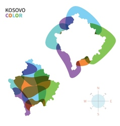 Abstract color map of kosovo vector