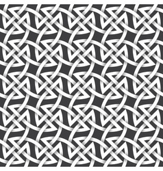 Abstract repeating background of white twisted vector image vector image