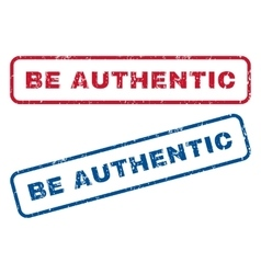 Be authentic rubber stamps vector