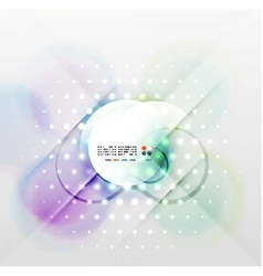 Blurred waves and lights modern background vector image vector image
