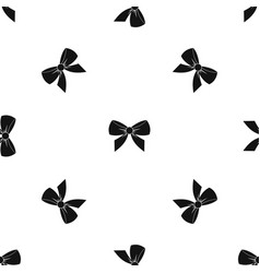 Bow pattern seamless black vector
