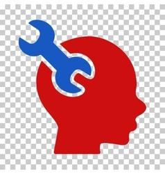 Brain service wrench icon vector
