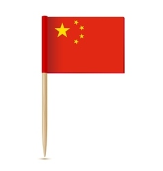 China Flag Flag toothpick 10eps vector image