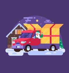 Christmas delivery service vector