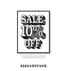 clean classic style sale banner template flat vector image vector image