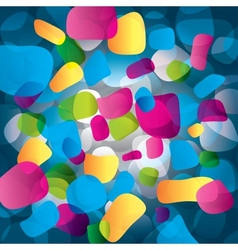 Colorful abstract background with round objects vector image