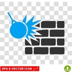 Destruction eps icon vector