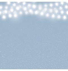 Falling snow Winter snowfall Garland vector image vector image