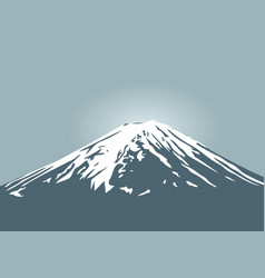 fuji mountain symbol of japan and asia traveling vector image