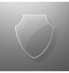 Glass shield on a gray background eps10 vector
