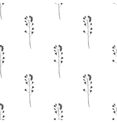 Hand drawn meadow grass seamless pattern vector image vector image