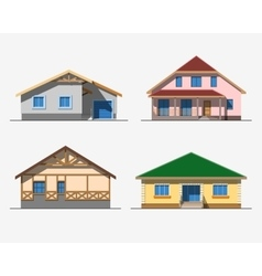 Houses 1 color vector image vector image