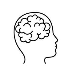 Isolated brain icon vector