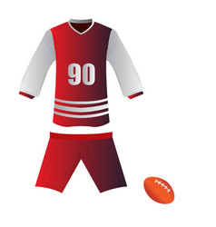 isolated rugby uniform vector image vector image