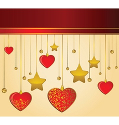 Loveheart background vector image