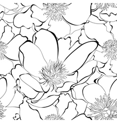 Monochrome seamless pattern vector image vector image
