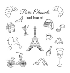 Paris Hand drawn france elements vector image vector image