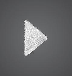 play sketch logo doodle icon vector image