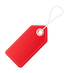 realistic discount red tag for sale promotion vector image vector image