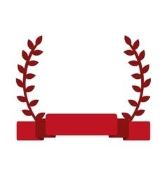 red laurel wreath banner vector image