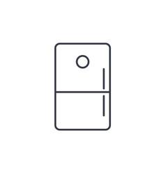 Refrigerator thin line icon linear symbol vector