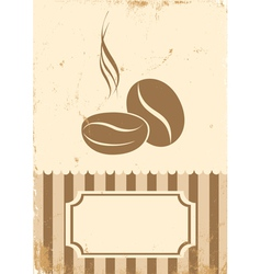 Retro paper coffee bean vector image vector image
