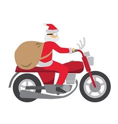 Santa ride motobike vector