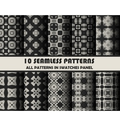 set of geometric patterns for design vector image vector image