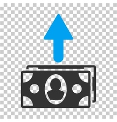 Spend banknotes icon vector