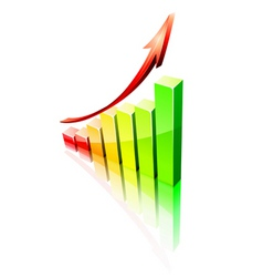 success graph vector image vector image