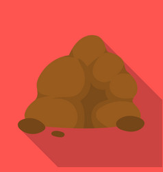 the small gray slidea mountain that consists of a vector image