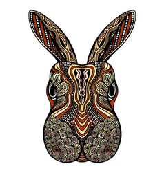 Tribal patterned Rabbit vector image